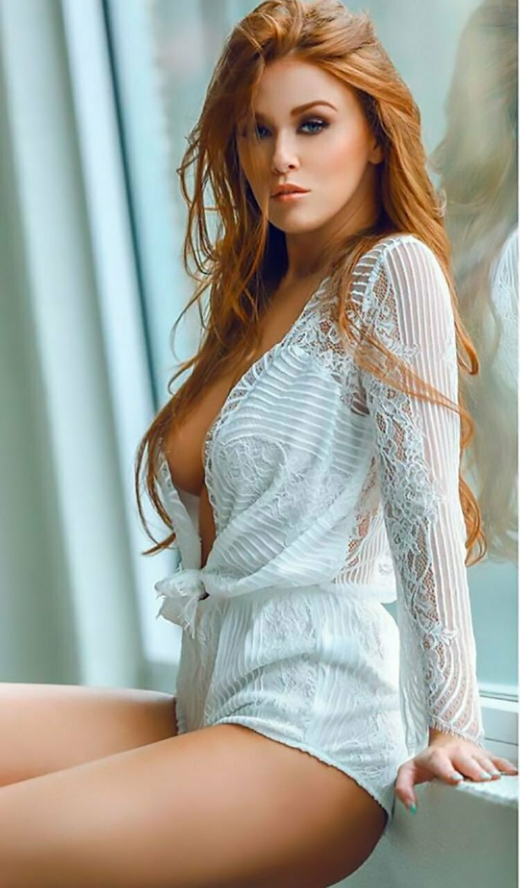 Leanna Decker doffs her elegant gown to pose erotically near the fireplace  1102990