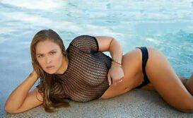 Ashley Hobbs nua Americana cover da Ronda Rousey pelada